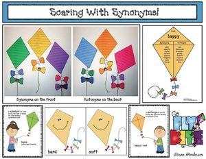 Up up and away kite activities kites activities and word work kite activities soaring with synonyms super cute kite themed synonym antonym activities ccuart Choice Image