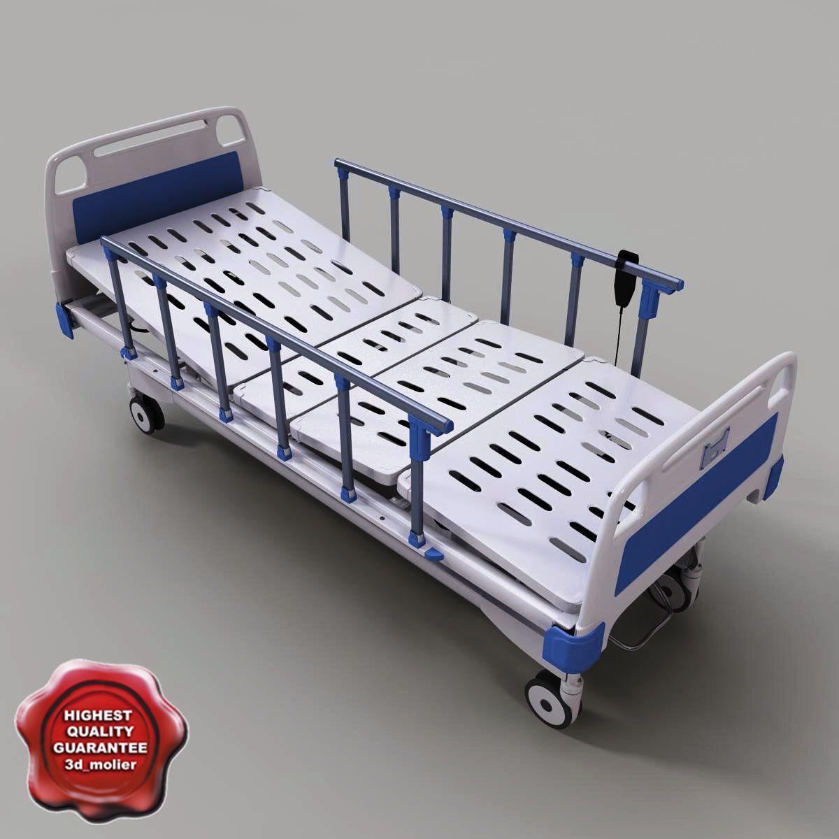 intensive care hospital bed 3d model 3d model 3d modeling