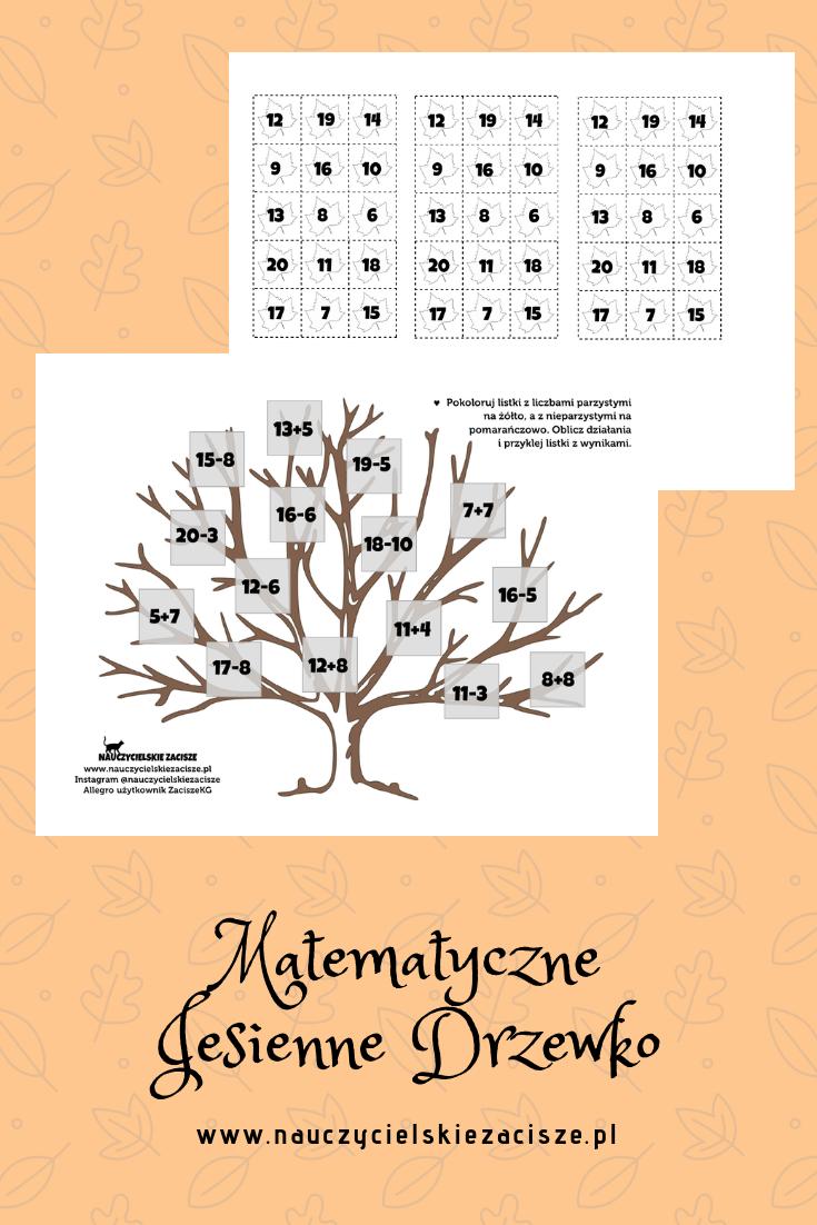 Jesienne Matematyczne Drzewko Z Dzialaniami W Zakresie 20 Idelane Na Edukacje Matematyczna W Klasie 2 Jesien Kartypracy Wor Home Decor Decals Math School