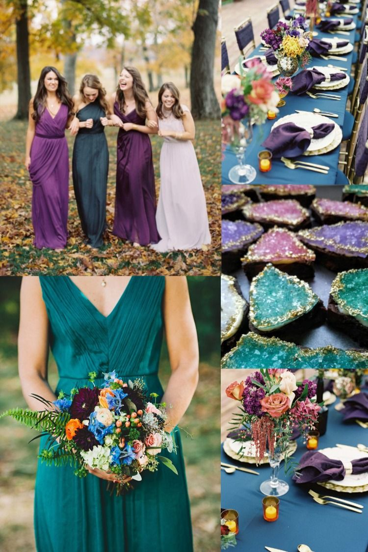 6 Perfect Dark Teal Wedding Color Schemes for Fall Dark