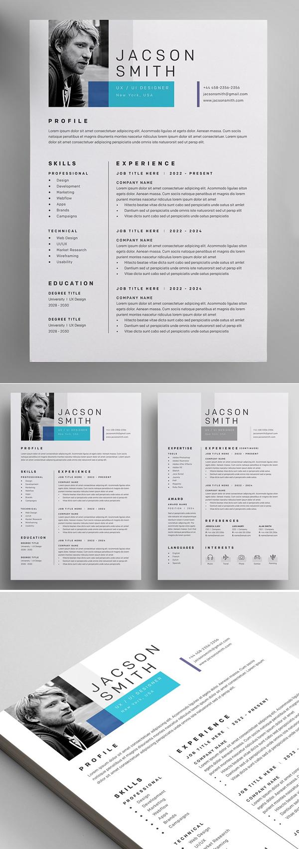 40 Professional Word Resume Templates Design Graphic Design Junction Minimal Resume Template Resume Templates Downloadable Resume Template