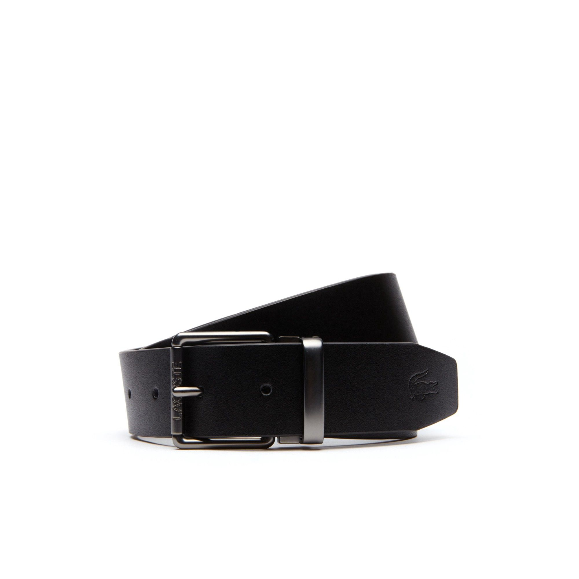 Lacoste Men s Two Leather And Woven Belt Straps Buckles Travel Kit - 35 In 931b4debdec69