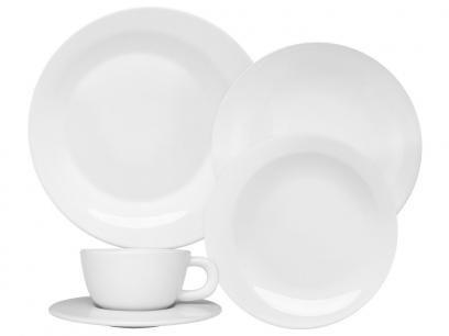 Aparelho De Jantar Em Porcelana 30 Pecas Moon White Com As