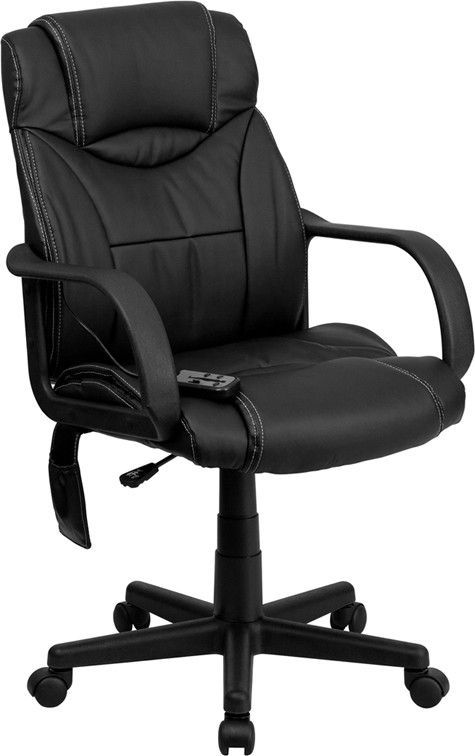 Flash Furniture Bt 2690p Gg High Back Massaging Black Leather