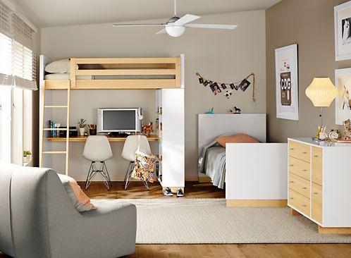 Moda Bed In 2021 Modern Kids Furniture Loft Bed Bed Desk