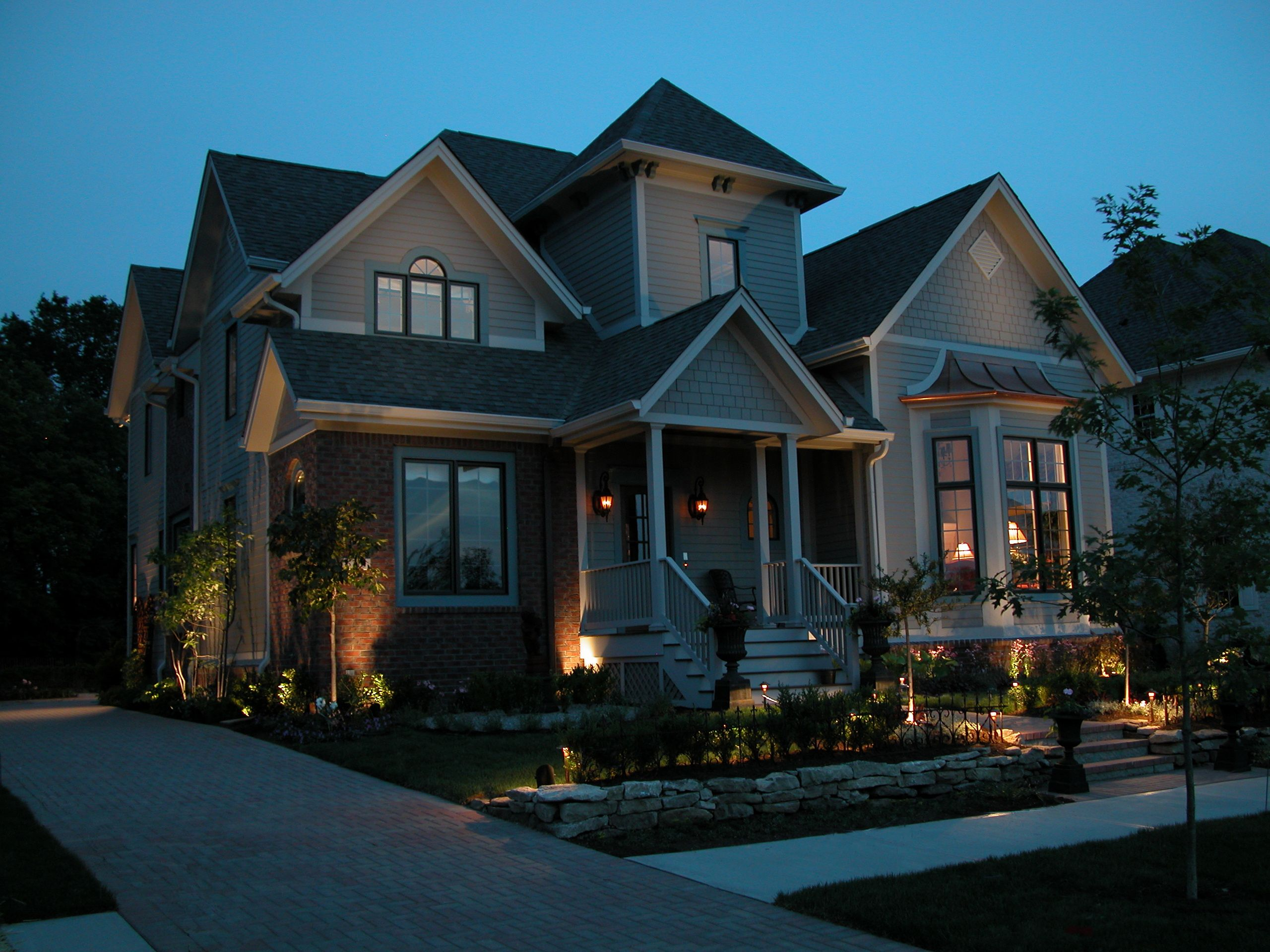 Illuminate The Landscaping Trees Along The Front Of Your House To Create An  Inviting Entry To