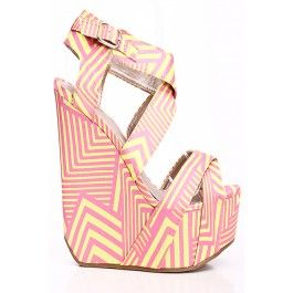 YELLOW PINK DESIGN X BAND PLATFORMS WITH CURVED BACK WEDGE,Women's Wedge Shoes For Sale,Cheap Wedge Sandals Shoes,Sneaker Wedges,Booties Wedges,Wedges Heels,Suede Wedges,Lace Up Wedges,Cutout Wedge Shoes,Platform Wedges Shoes,Cute Spike,Studded,Strappy Wedges Shoes Online