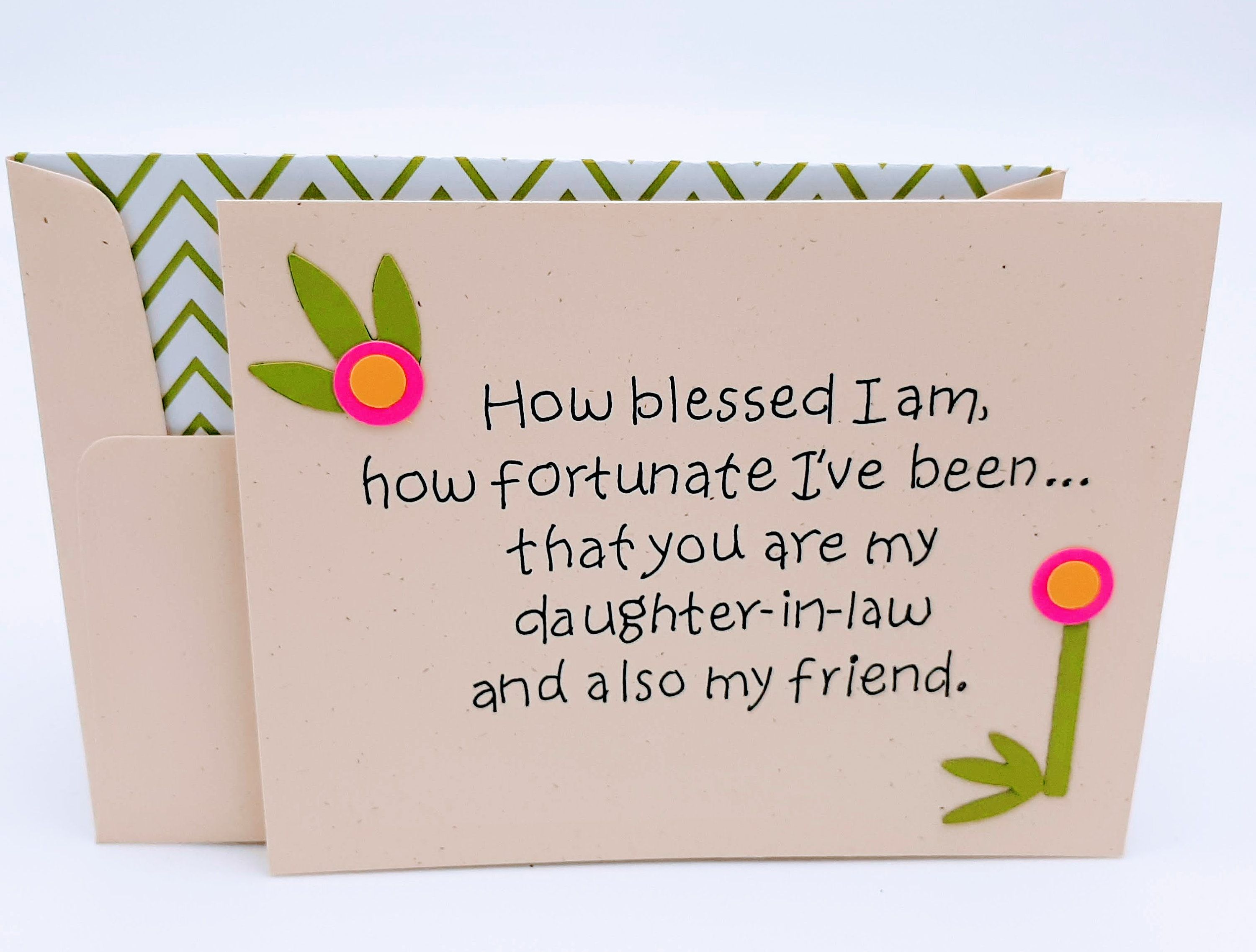 Daughter In Law Birthday Card Love Of Daughter In Law Etsy Birthday Cards Sweet Cards Sister Birthday Card