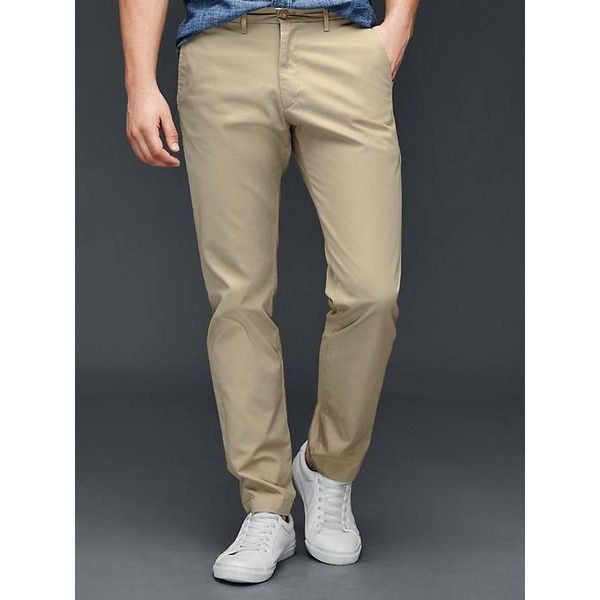 Gap Men The Khaki Slim Fit ($45) ❤ liked on Polyvore featuring ...