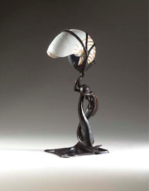 Gustav Gurschner Mermaid Lamp