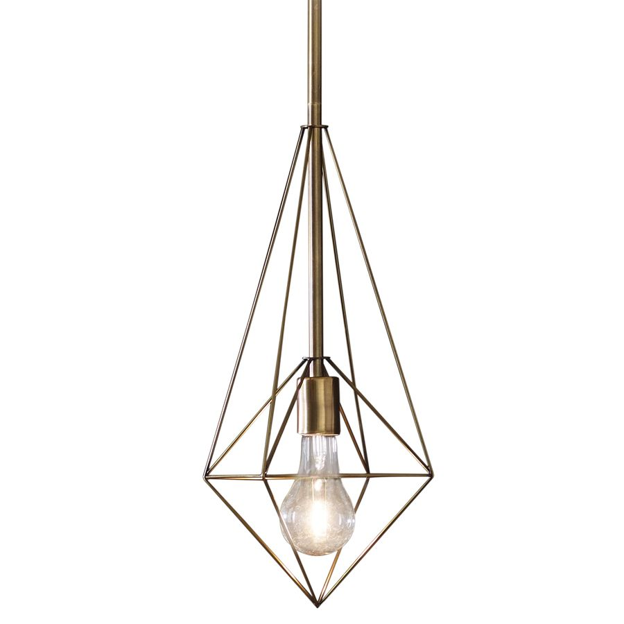 Style Selections Palmsley 9 02 In Soft Gold Art Deco Mini Geometric
