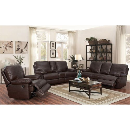 Catterton 3 Piece Leather Power Reclining Living Room Set