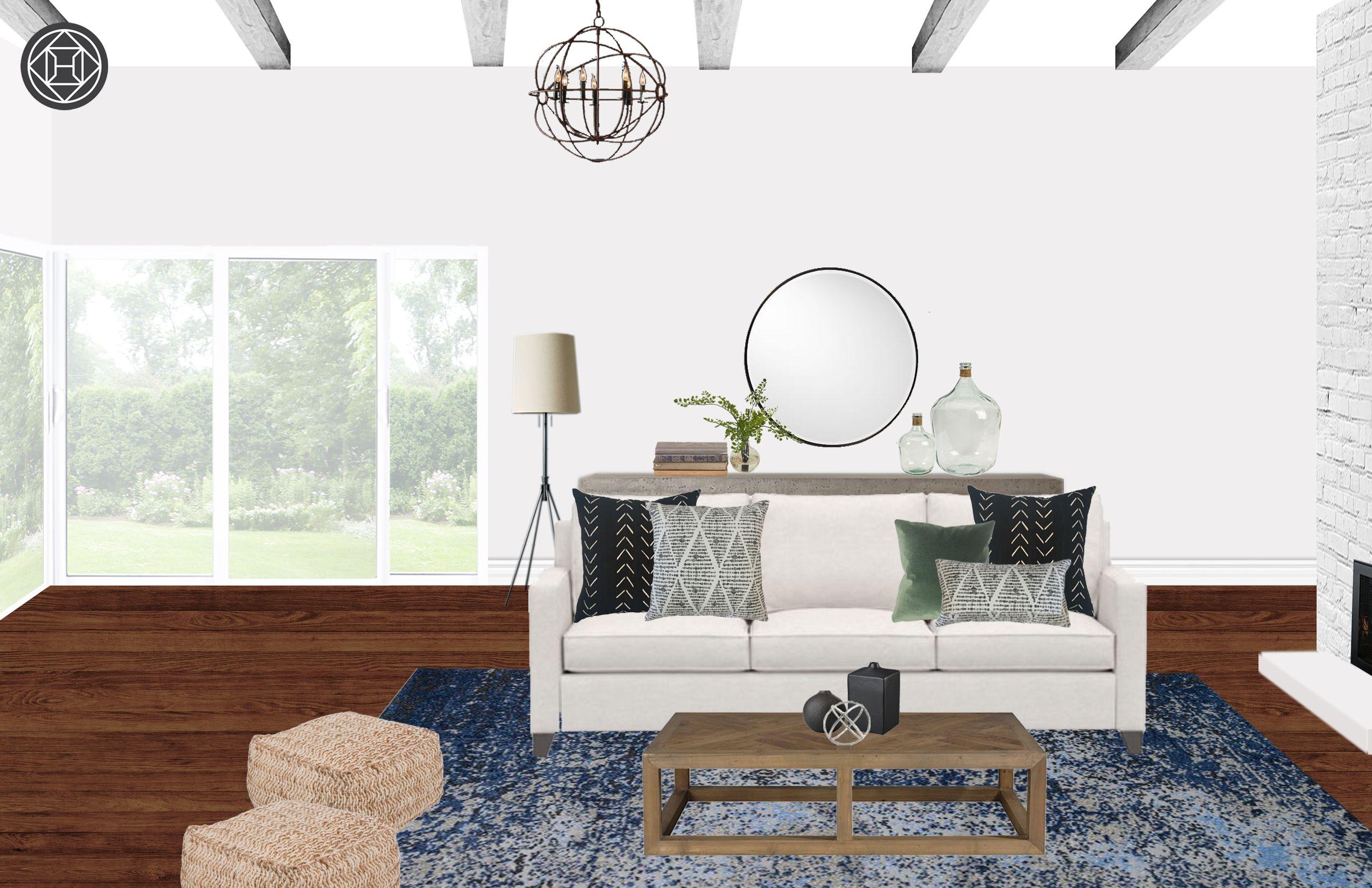 Classic Rustic Midcentury Modern Living Room Design By Hav