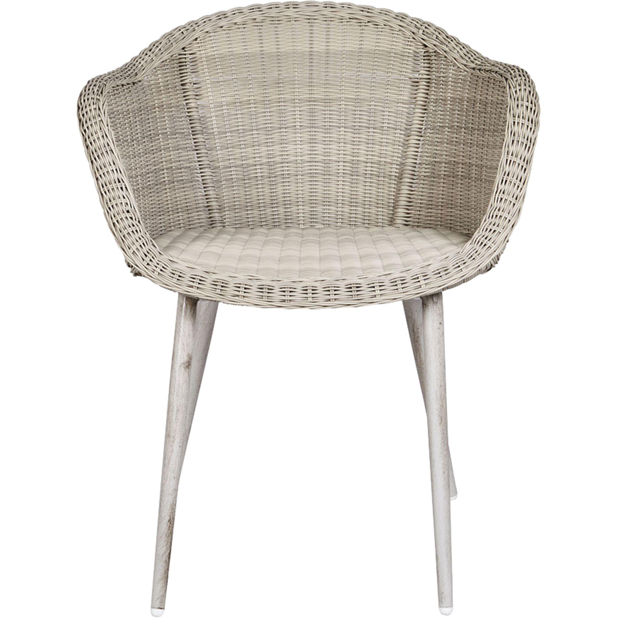 alinea audrey fauteuil de jardin ecru