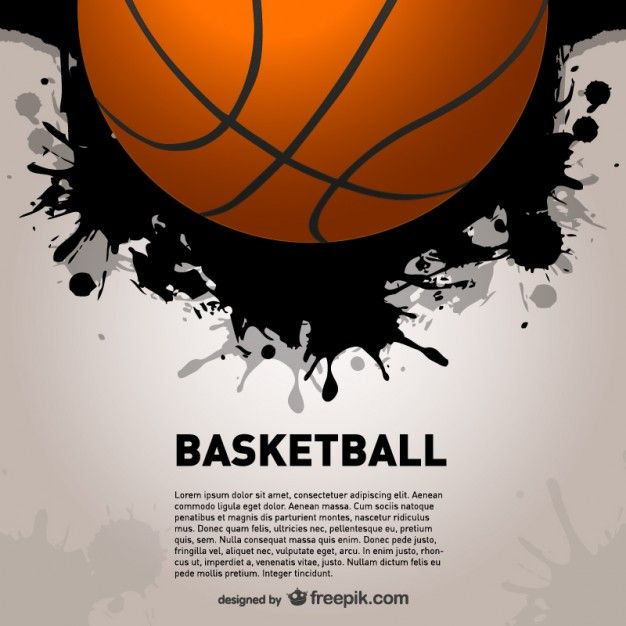 Basketball splash vector background Freepik com-Sports-pin