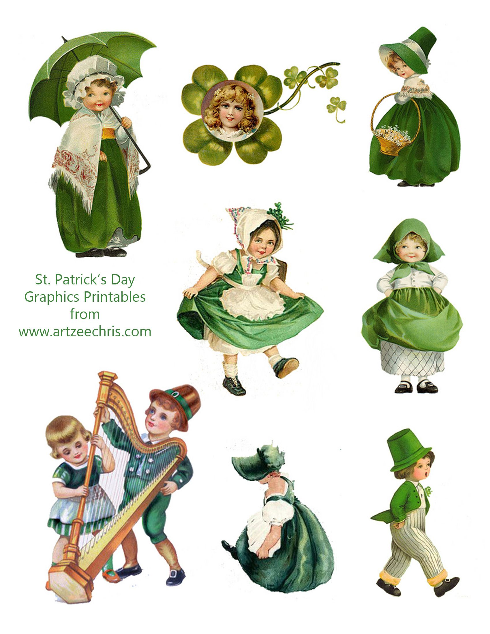 Free St. Patrick's Day Vintage Graphics printable for ...