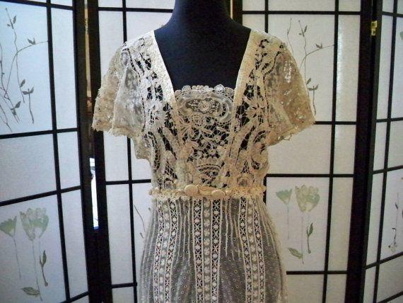 Alternative Wedding Dress 1900s Downton Edwardian Wedding Gown ...