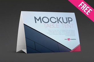 Free Table Tent Mock Up In Psd Table Tents Free Mockup Mockup
