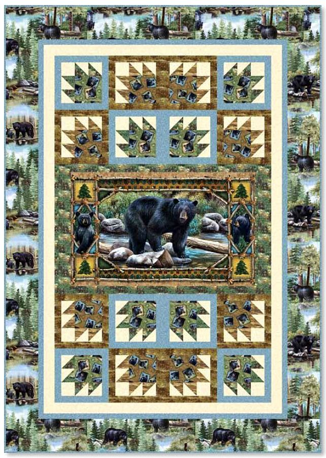 Bear Country Free Quilt Pattern Wildlife Quilts Fabric
