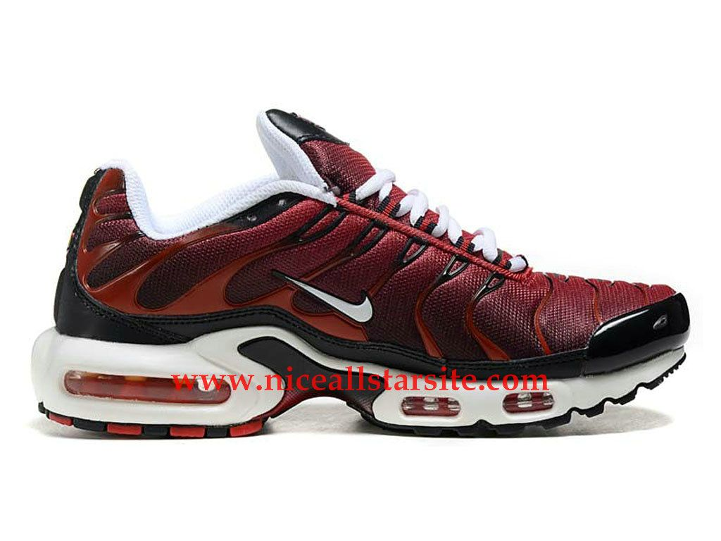 detailed look e3e09 509b4 Nike Air Max Plus (Nike Tn 2015) -Chaussure De Basket Pas Cher Pour Homme  RougeBrunBlancNoir 604133-A021-1508262137 - Nice All Star Site En ...