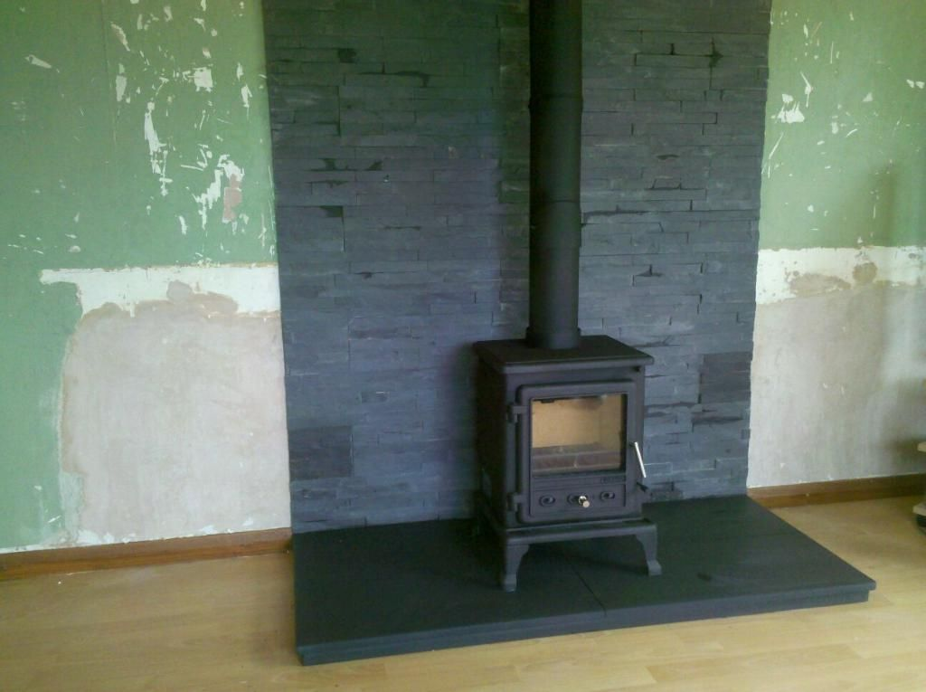 slate and granite  great hearth pads for wood burning