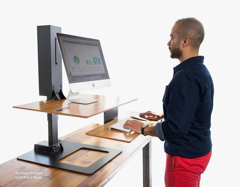 E7 Electric Standing Desk Converter By Uplift Desk Standing Desk Converter Uplift Desk Electric Standing Desk