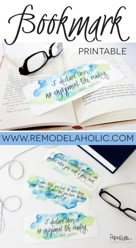 Remodelaholic Free Download Watercolor Printable Bookmarks Bookmarks Printable Free Printable Bookmarks Watercolor Printable