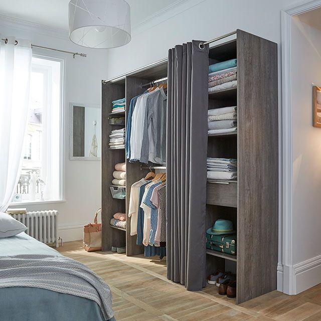Dressing extens v3 ch ne cendr castorama - Comment faire un dressing dans une chambre ...