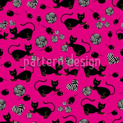 Die Schwarze Katze Mausi by Anny Cecilia Walter,patterndesigns.com