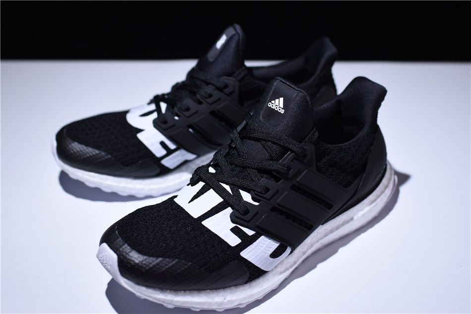60806576f6b556 2018 Undefeated x adidas Ultra Boost Black White B22480 On Sale ...