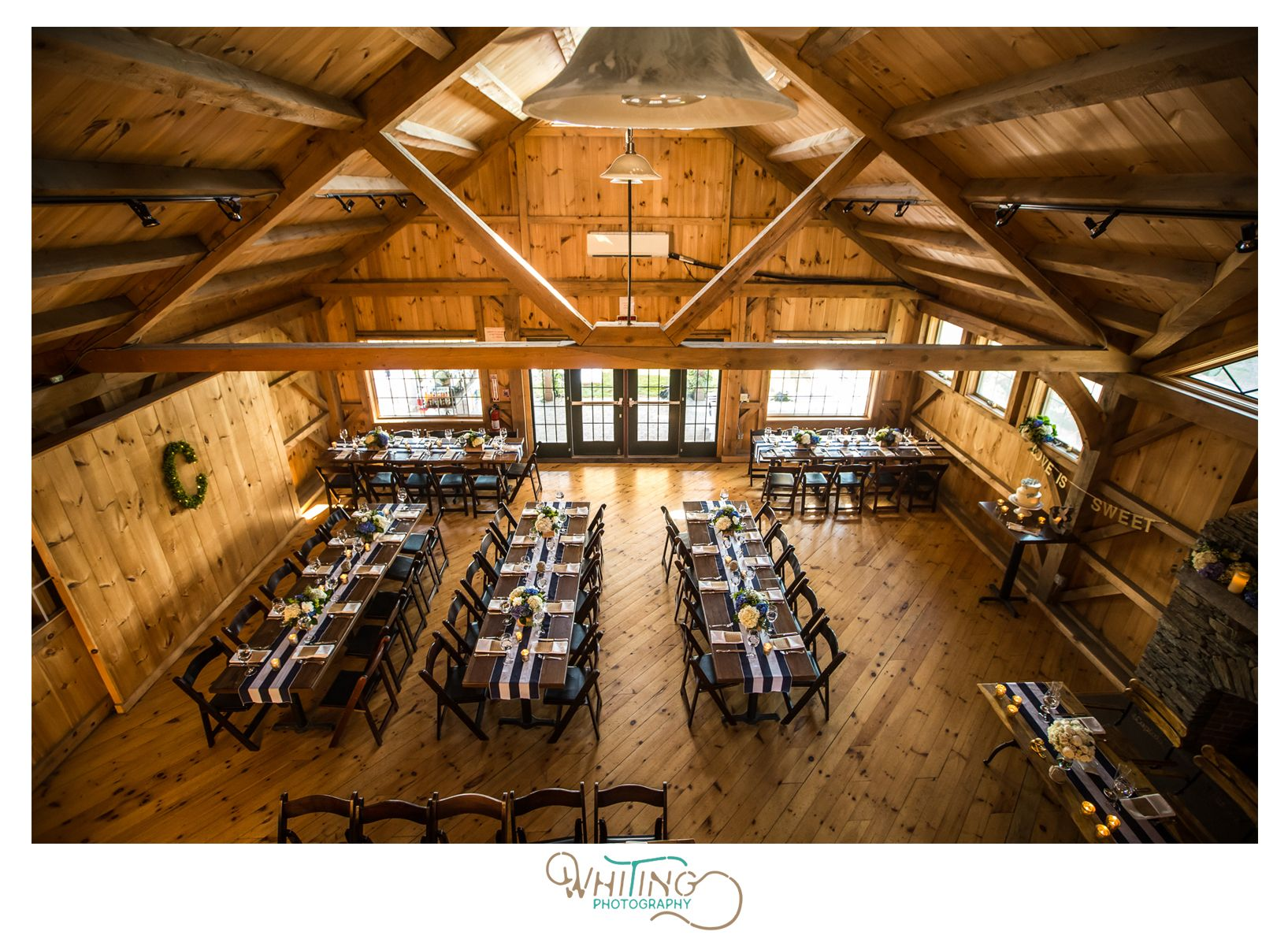 Sweet Berry Farm Indoor Reception Barn Nautical Theme Whiting Photographer Rhode Island Wedding