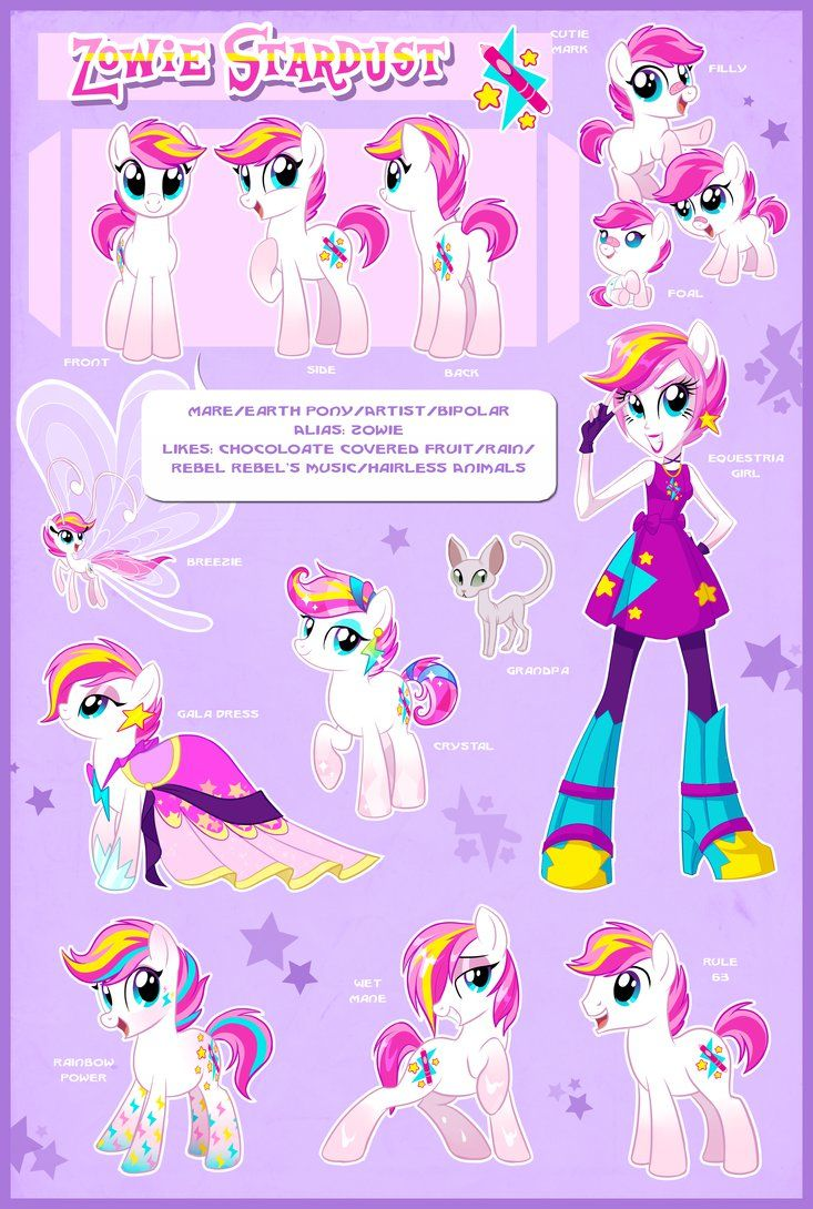Zowie Stardust Ultimate Reference Guide By Centchi On Deviantart Little Pony My Little Pony Drawing Pony