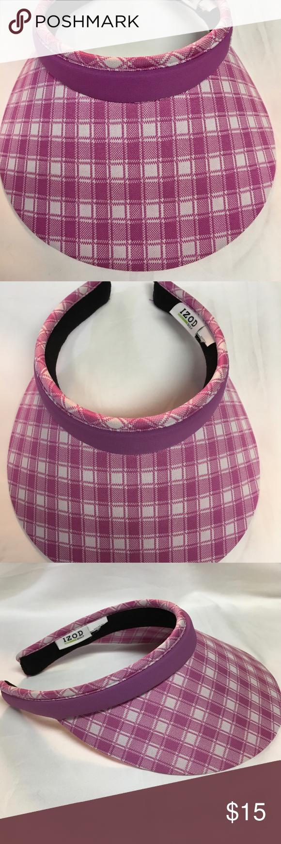 IZOD Women s Golf Visor Pink Gingham IZOD Women s Golf Visor Pink Gingham •  Color  Pink Gingham • Design  Visor • Width  5 in • Length  6.5 in Label  was cut ... ac00c95246f