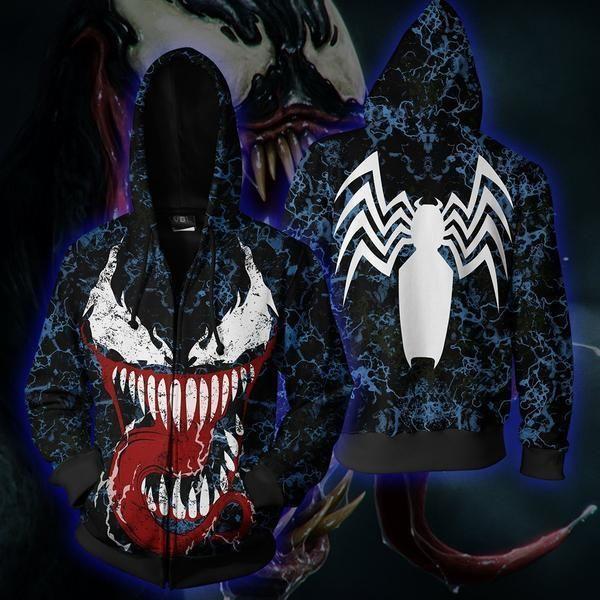 VENOM BLACK METAL Zip Jacke Zip Hood L: : Musik
