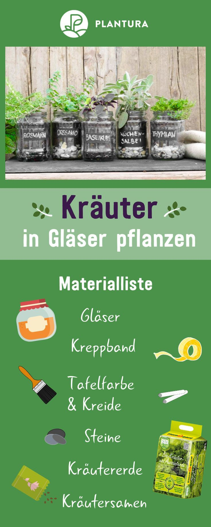 Kräuter im Glas pflanzen: Video-Anleitung & Tipps #herbsgarden