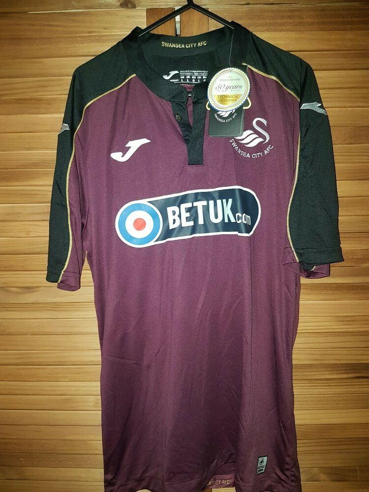 Bnwt Large Swansea City 19 20 Third Shirt Fashion Sports Memorabilia Footballshirts Englishclubs Ebay Link Swansea City Shirts Long Sleeve Tshirt Men