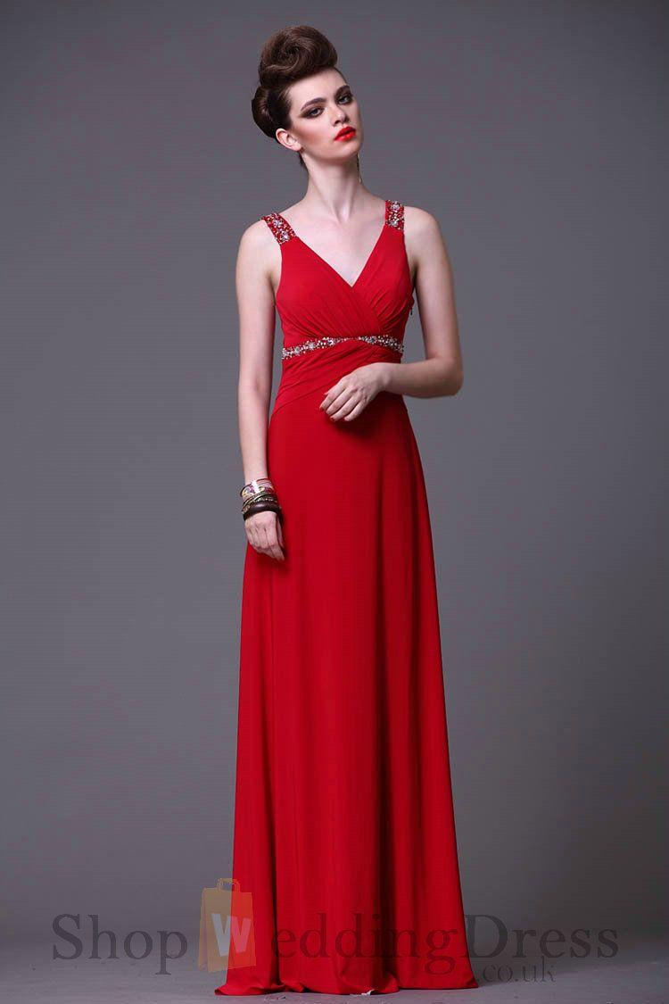 Red Strap Prom Dresses