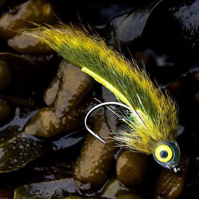 Chartreuse Squirrel Zonker | Fly Fishing Bass and brim | Bass
