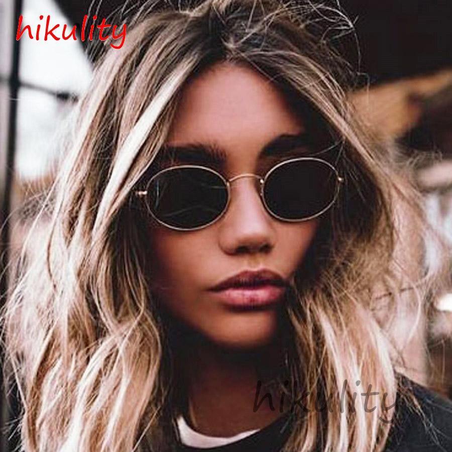 Small oval 90s narrow sunglasses women 90s teenage