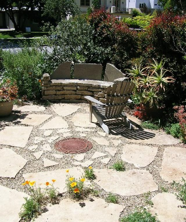 Patio Design Ideas: Front Yard Flagstone Patio
