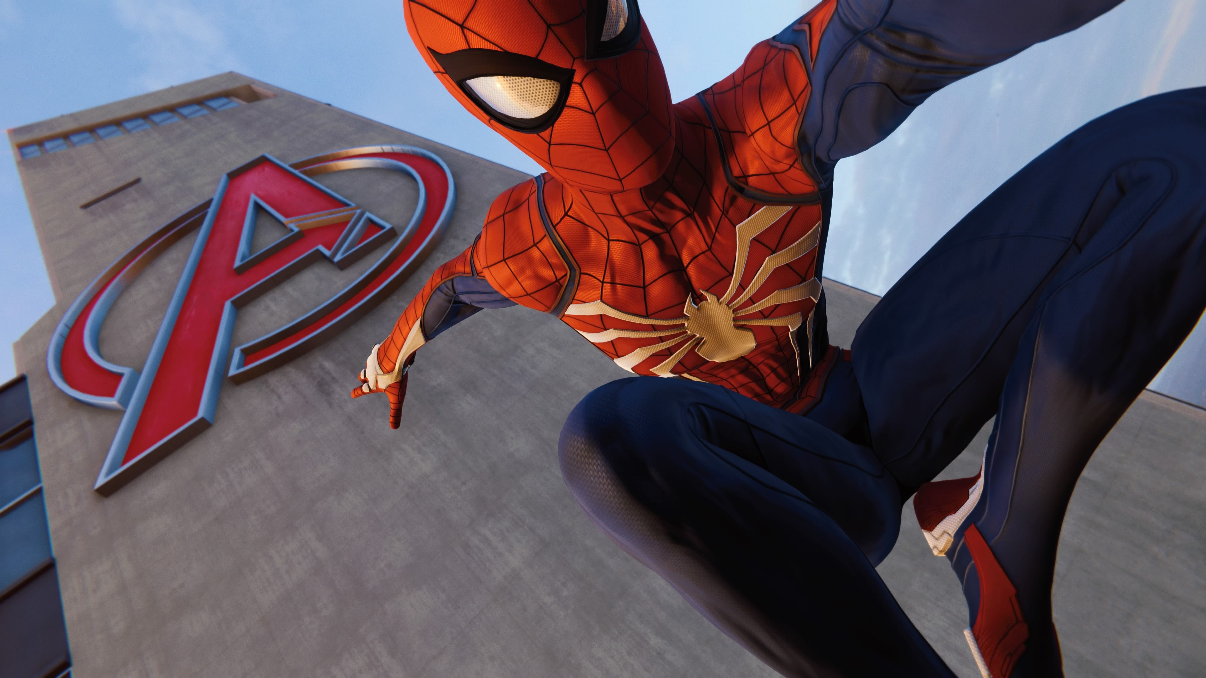 Ps4 Pro Spiderman Avengers Tower Superheroes Wallpapers Spiderman Wallpapers Spiderman Ps4 Wallpapers Ps4 Games Spiderman Spiderman Ps4 Wallpaper Superhero