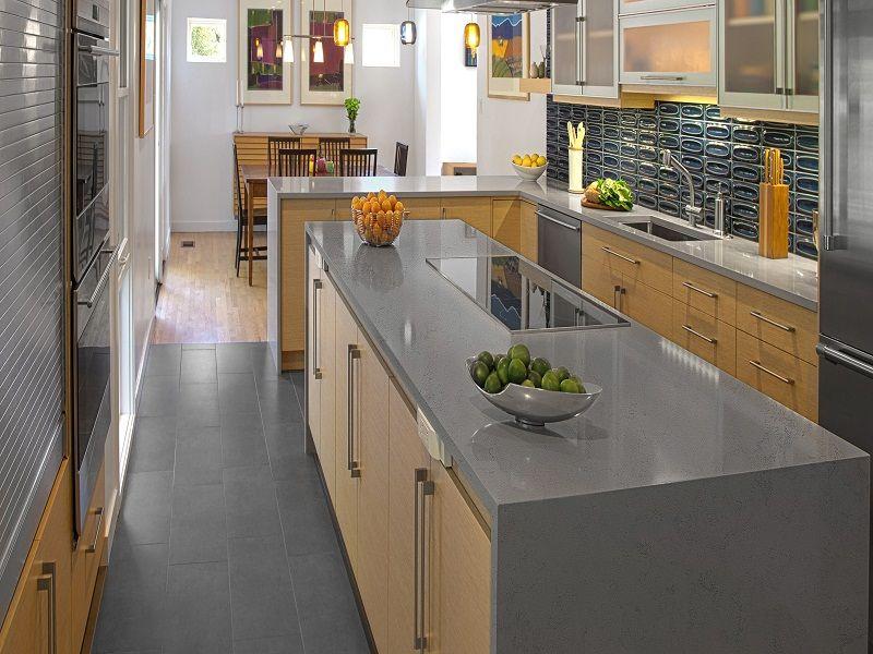 Grey Color Kitchen Countertop Gray Kitchen Countertops Kitchen Countertops Quartz Kitchen