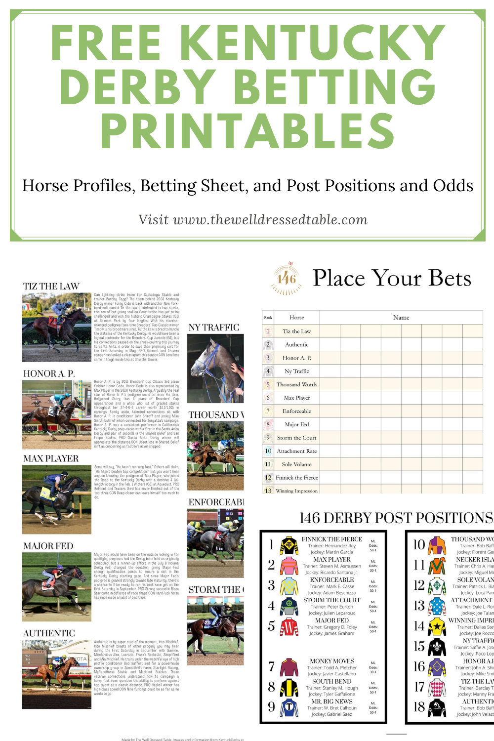 Kentucky Derby 25 Printables   The Well Dressed Table   Derby ...