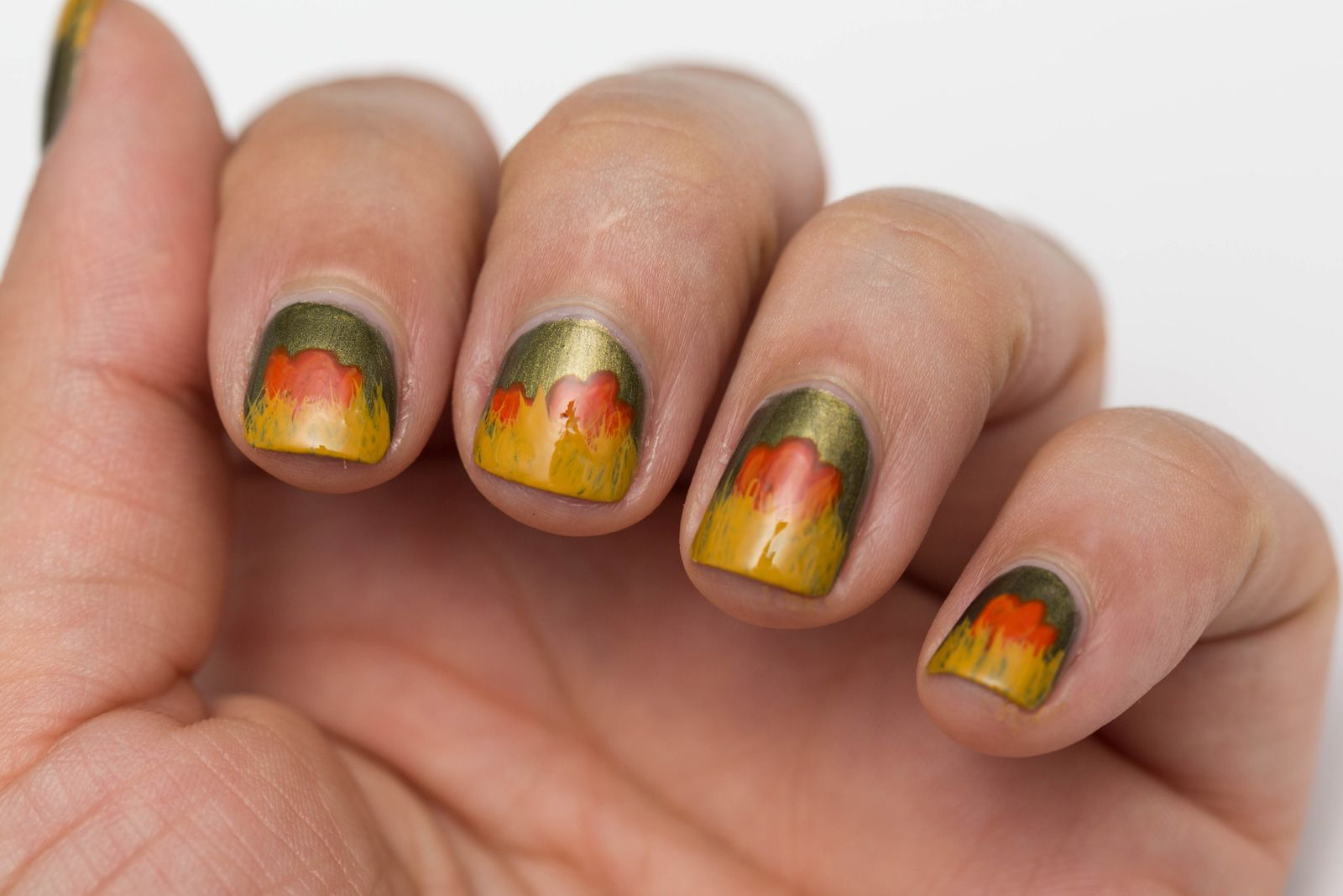 fall nail art | Fall Inspired Nail Art for Short Nails with ...