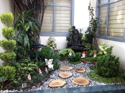 diseños de jardines exteriores con piedras | ante jardín