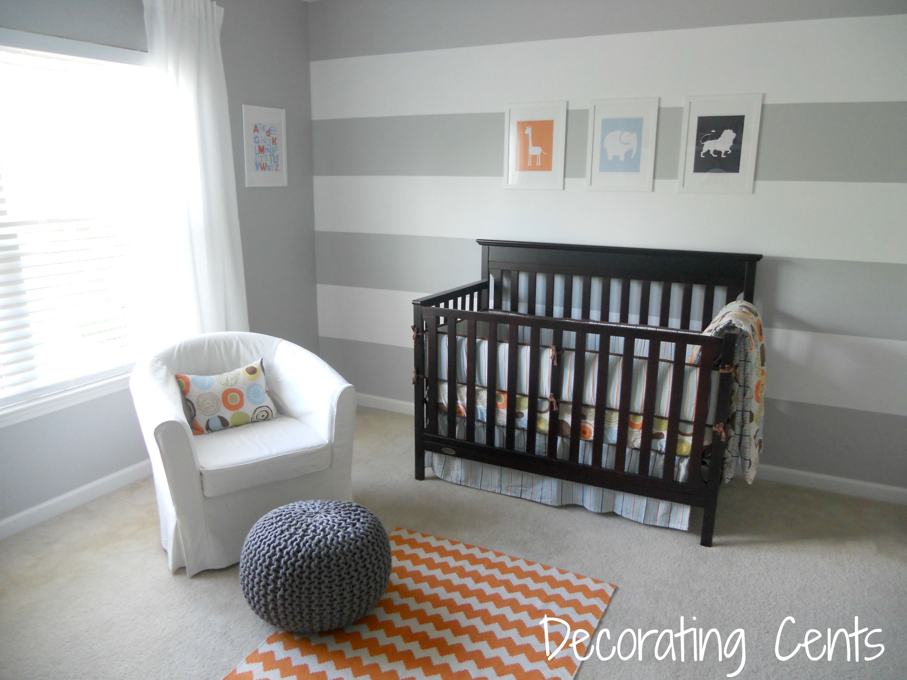 Gray And Orange Nursery Yellow Accents Nursery And Gray