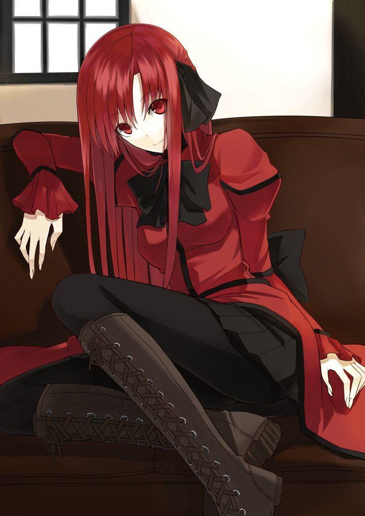 Anime Vampire Girl With Red Hair : anime, vampire, Anime, Vampire