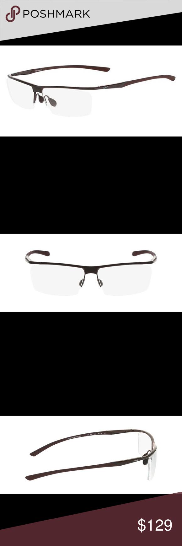 Nike Eyeglass Frames 6061 Gunmetal Deep Burgundy Boutique
