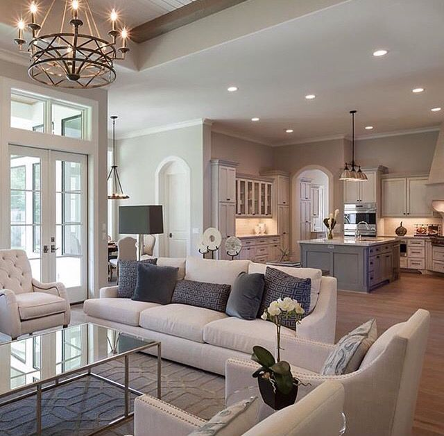 Love The Floor Plan Layout. Put French Doors All Around The Dining So It  Can Open Up, U Shaped Island Coming Toward Living With Built In Booth  Seating, ... Part 40