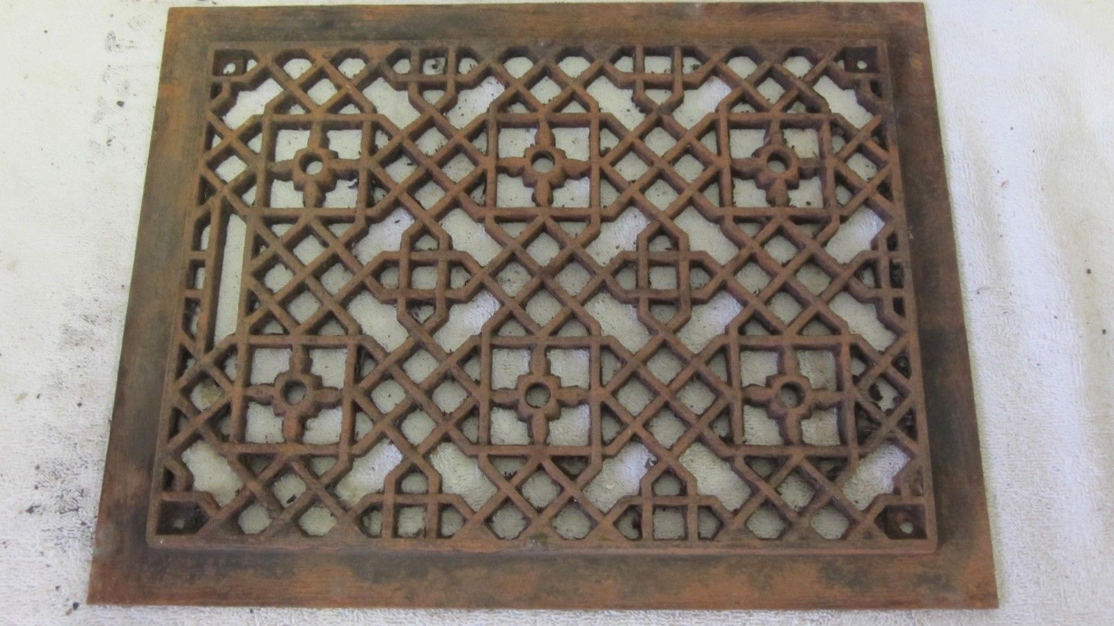 Antique Floor Wall 10 X 14 Furnace Cast Iron Hot Air Register Heat Grate Antique Flooring Antiques Furnace